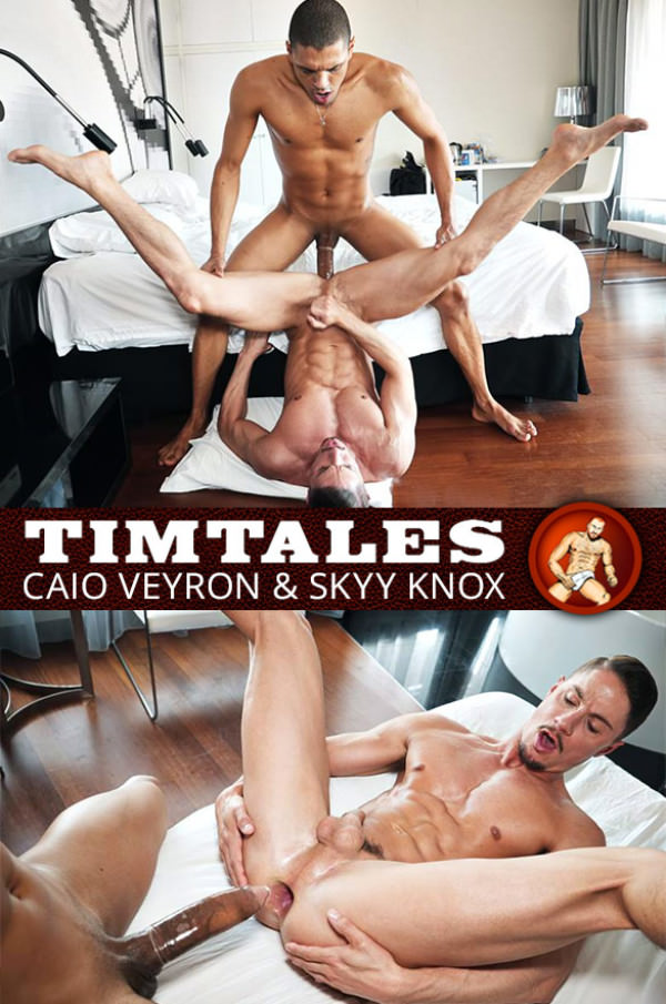 TimTales Skyy Knox bottoms for Caio Veyron and his 11-inch cock