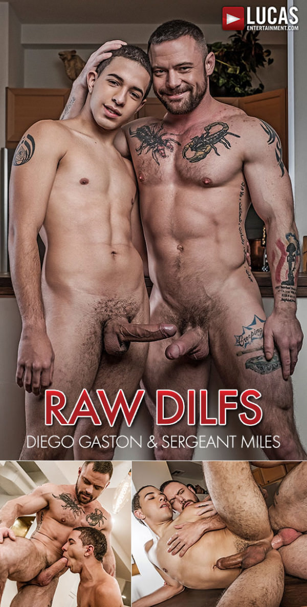 LucasEntertainment Raw DILFs Sergeant Miles fucks Diego Gaston's tight ass