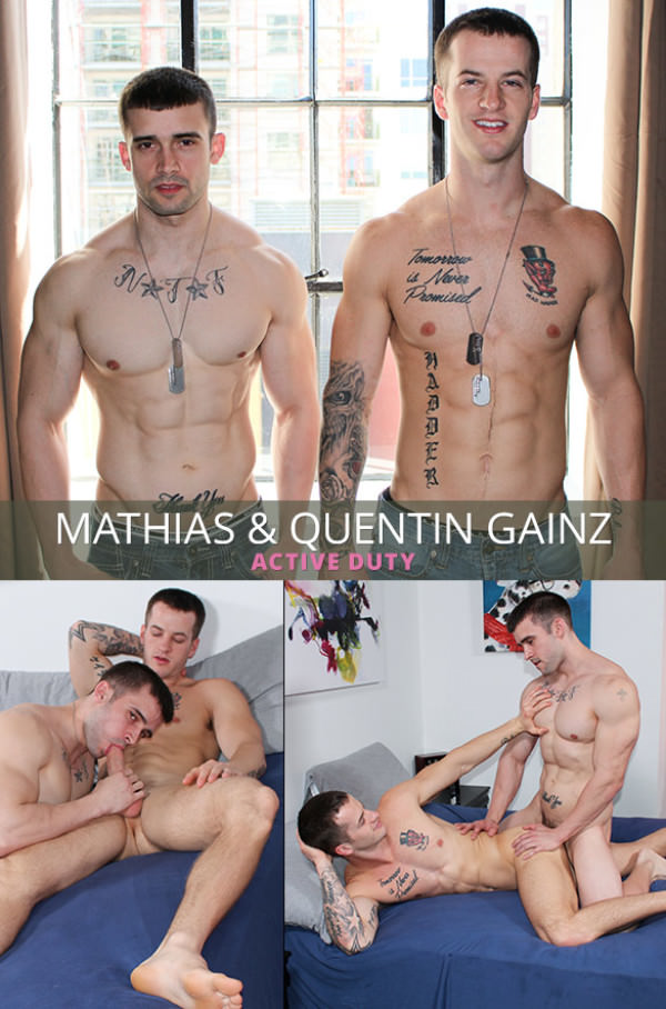 ActiveDuty Quentin Gainz Mathias Bareback