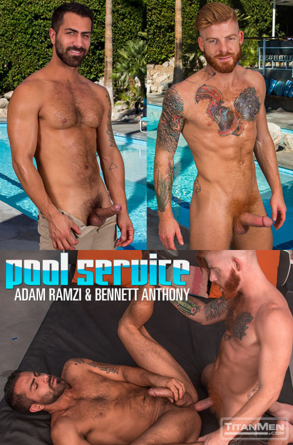 TitanMen Pool Service - Adam Ramzi and Bennett Anthony flip fuck
