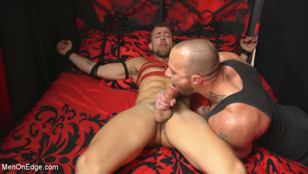 MenOnEdge Hot new stud with a beautiful cock gets edged and fucked to cum! Jay Austin