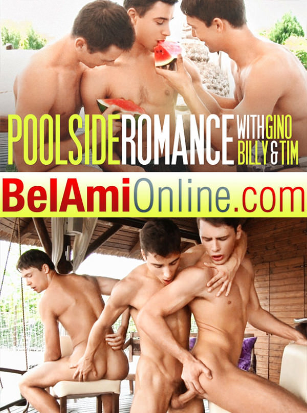 BelAmiOnline Gino Mosca, Billy Montague and Tim Campbell fuck each other bareback