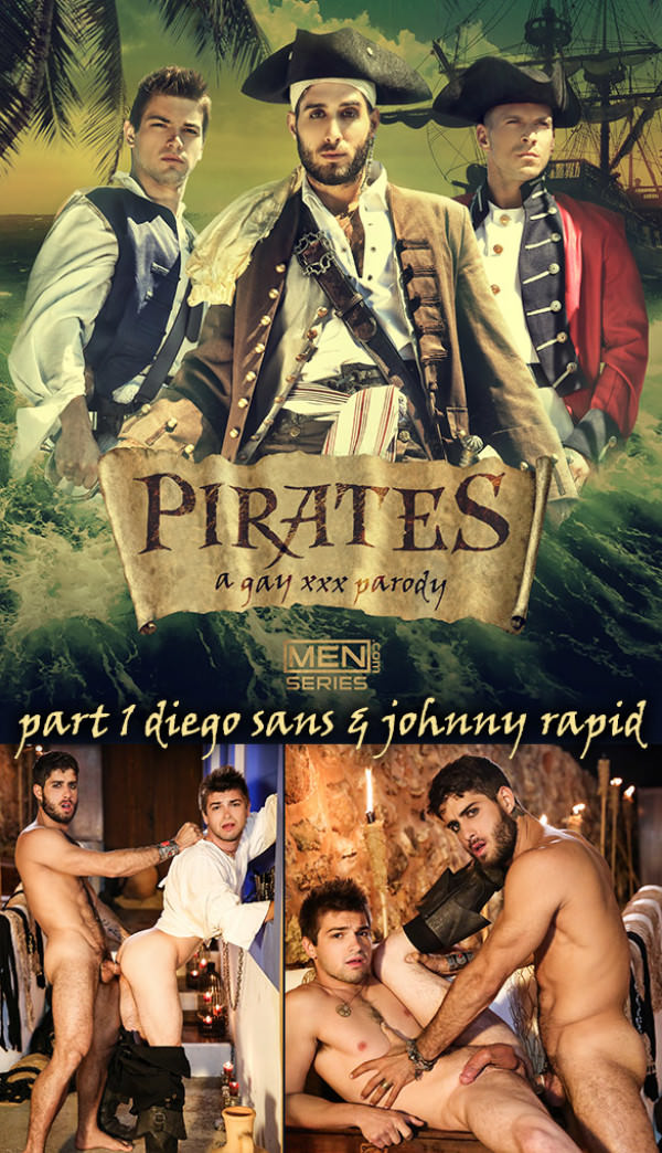 SuperGayHero Pirates: A Gay XXX Parody, Part 1 Diego Sans fucks Johnny Rapid Men.com