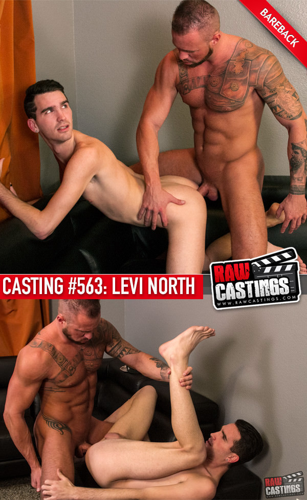 RawCastings Casting #563 Levi North with Michael Roman Bareback