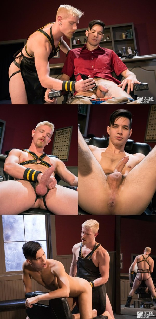 FistingCentral Fisty's Barber Shop Cody Winter Issac Lin
