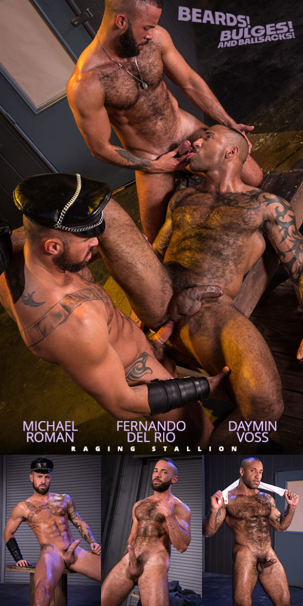RagingStallion Beards, Bulges Ballsacks Michael Roman, Daymin Voss Fernando Del Rio's threeway