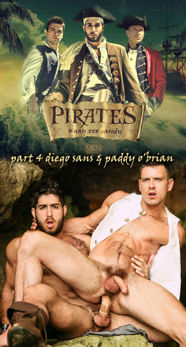 Men.com Pirates: A Gay XXX Parody Part 4 Diego Sans Fucks Paddy O'Brian Str8toGay