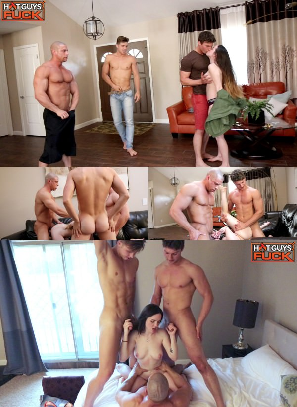 HotGuysFUCK Group Fuck: Brady, Rob, and Sean FUCK Monica in Foursome Sean Costin, Brady Corbin Rob Burry