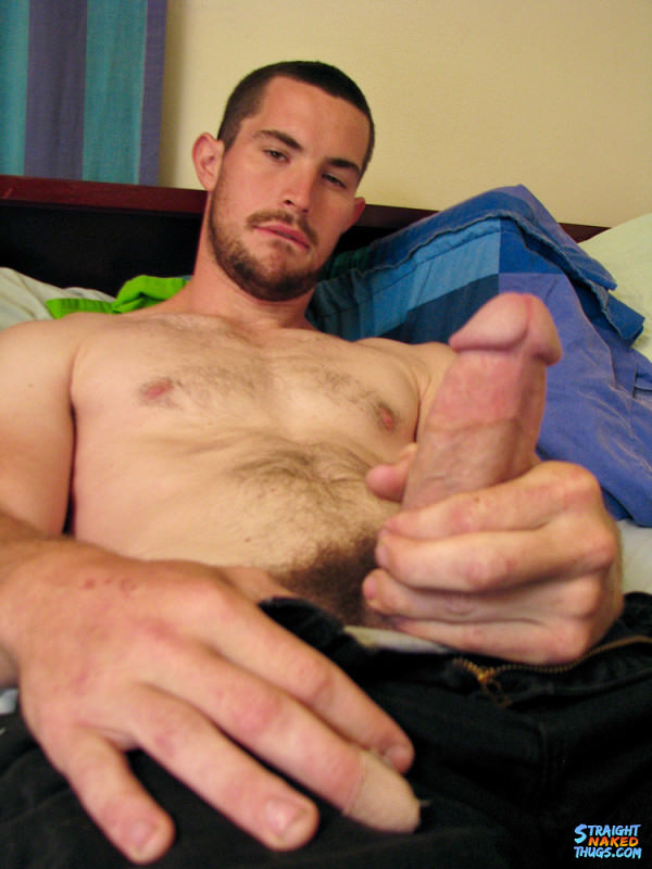 StraightNakedThugs Hunter Has A Lot Of Cum To Spurt Out! Solo
