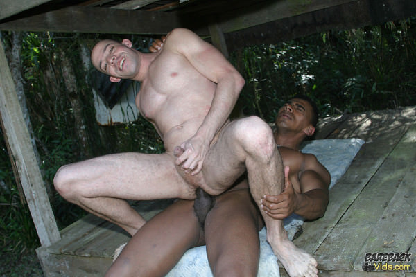 BarebackVids Brazilian Bareback Fuckers In The Woods!