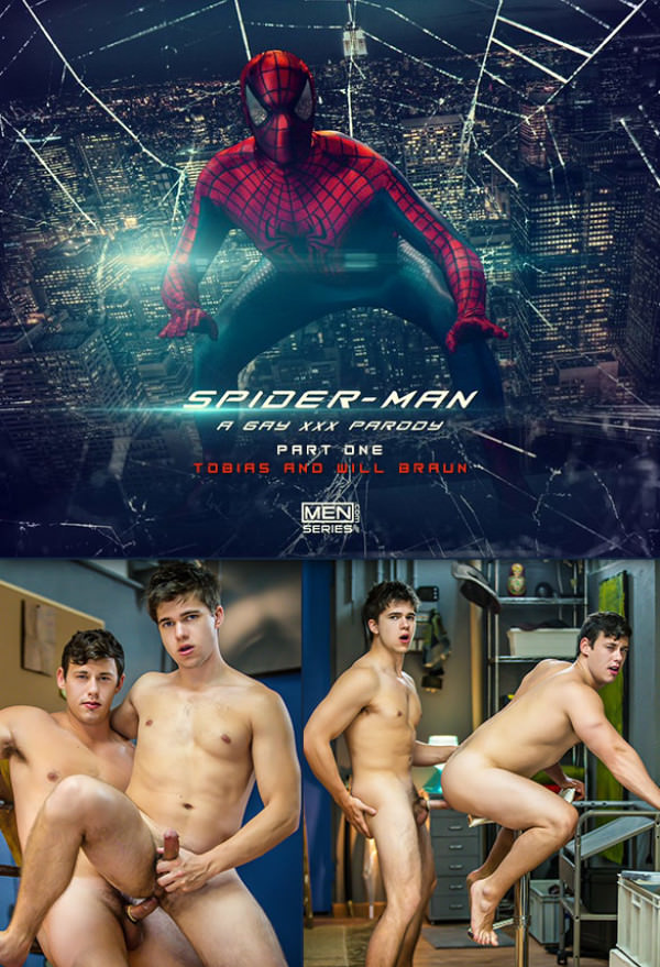 SuperGayHero Spiderman: A Gay XXX Parody Part 1 Will Braun Tobias flip fuck Men.com