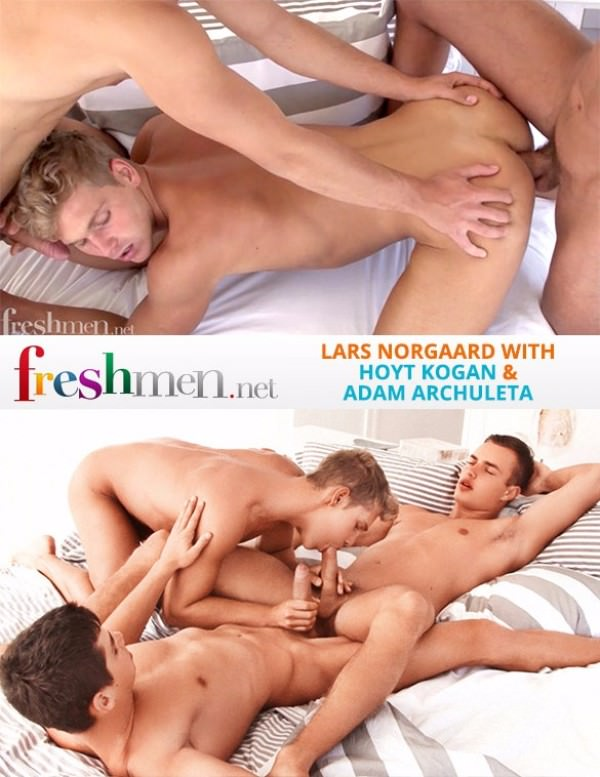 FreshMen Issue 40 Lars Norgaard with Adam Archuleta Hoyt Kogan Bareback