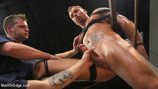 MenOnEdge Motorcycle Mechanic Stud Gets His Road Hard Hog Ridden to the Edge Kai Donec
