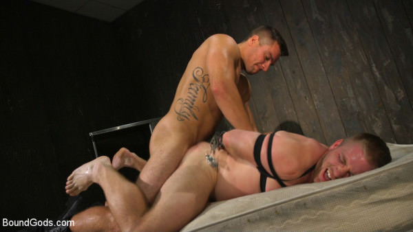 BoundGods Officer Jordan Boss Takes Down Scott Riley And Fucks His Hungry Hole