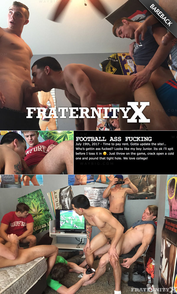 Fraternityx Football Ass Fucking Bareback