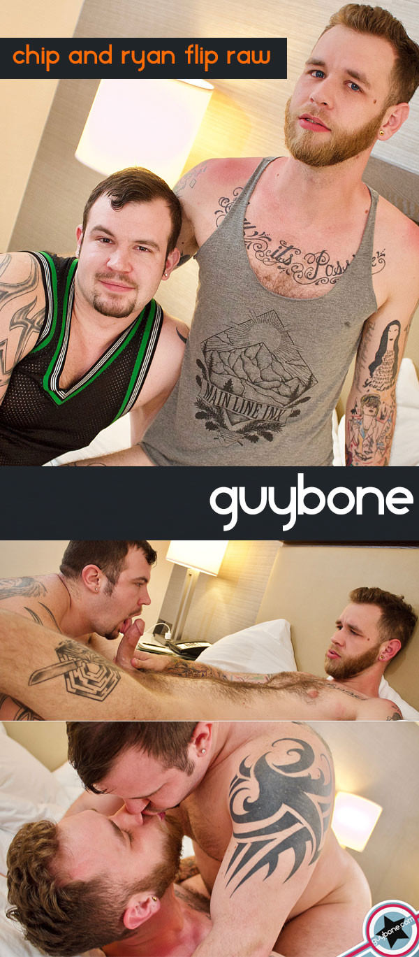 GuyBone Chip Young & Ryan Powers Bareback Flip-Fuck