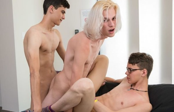 BareTwinks Sexy Boy Justin Gets His Threeway Wish Kayden Alexander, Justin Cross Aaron Martin Bareback