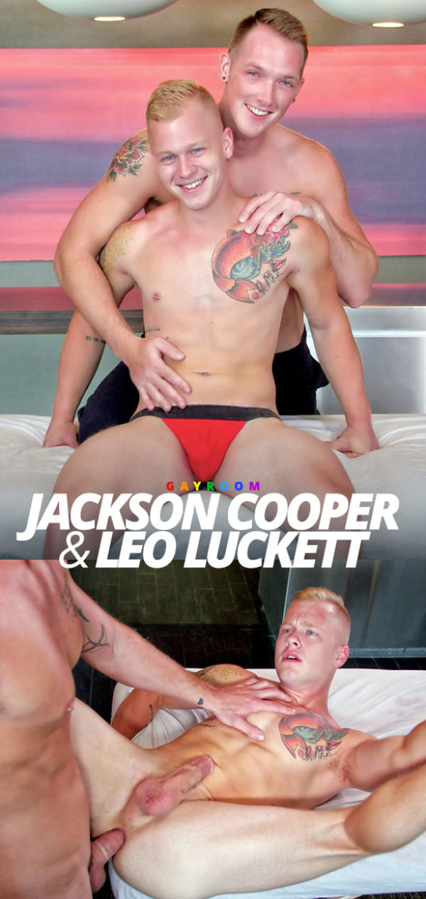 GayRoom Rub Me Tender Jackson Cooper fucks Leo Luckett MassageBait
