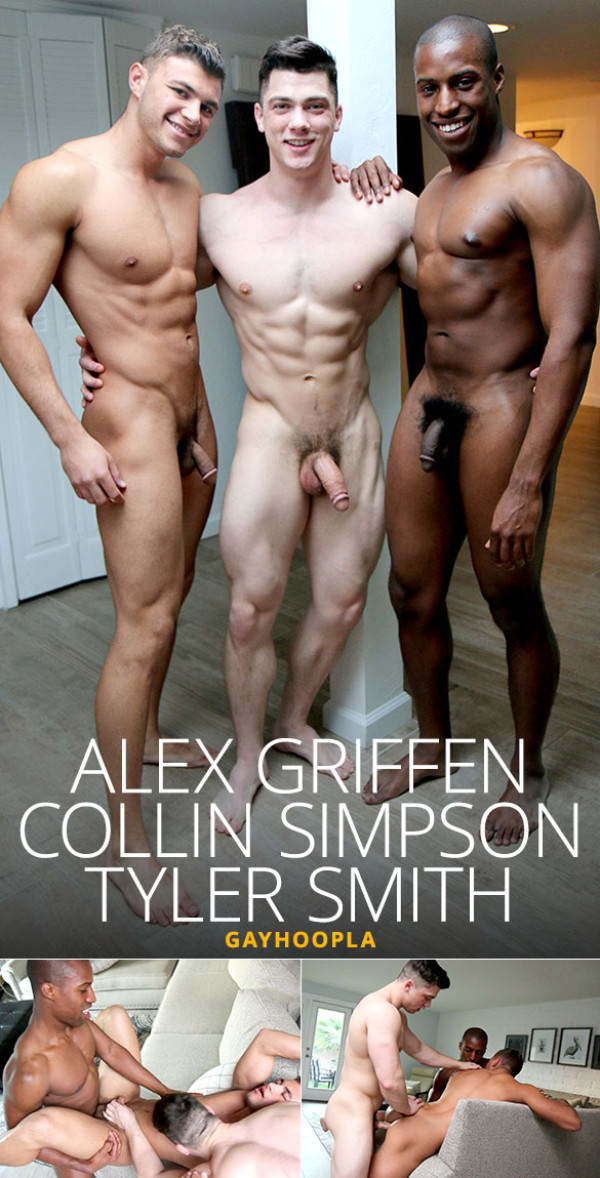 GayHoopla Alex Griffen bottoms for Collin Simpson & Tyler Smith