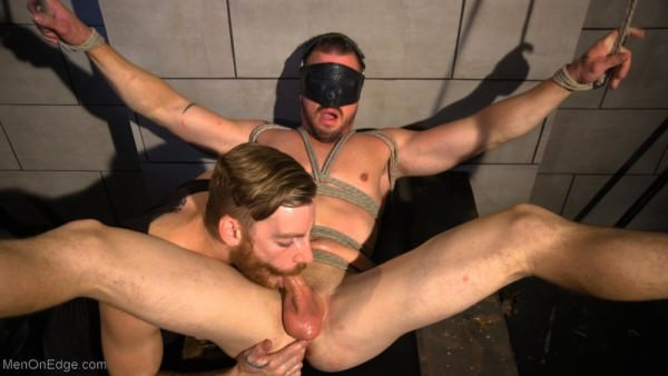 MenOnEdge Straight Beefcake Stud Gets Edged Darin Silvers