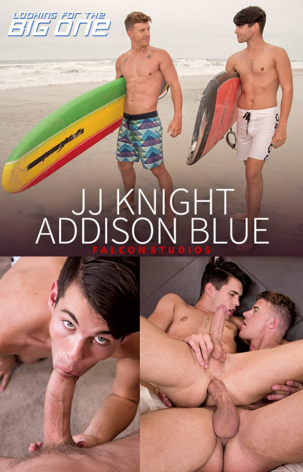 FalconStudios Looking for the Big One Addison Blue rides JJ Knight's massive dick