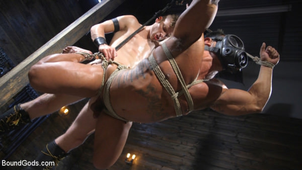 BoundGods Bound bodybuilding god at the hands and torment of Mr Keys Draven Navarro Sebastian Keys