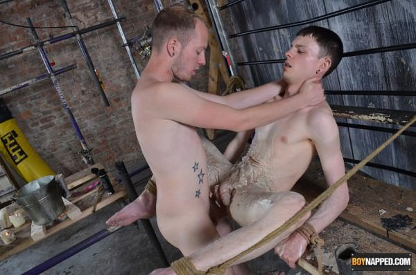 BoyNapped Twink Bottom Covered In Molten Wax Aaron Aurora Sean Taylor