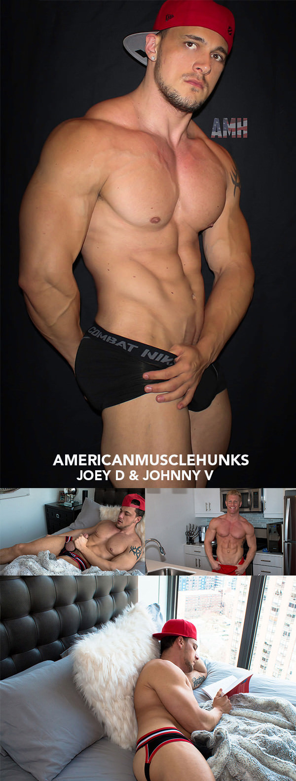 AmericanMuscleHunks Joey D Johnny V Part 1
