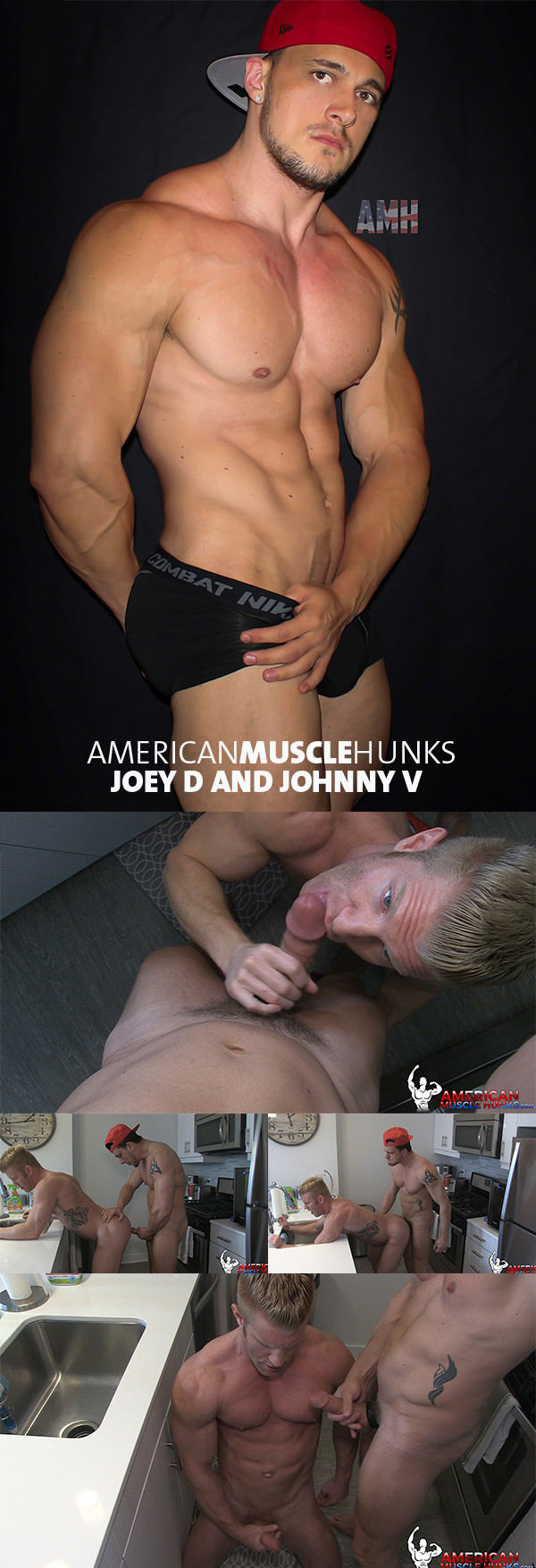 AmericanMuscleHunks Joey D Johnny V Part 2