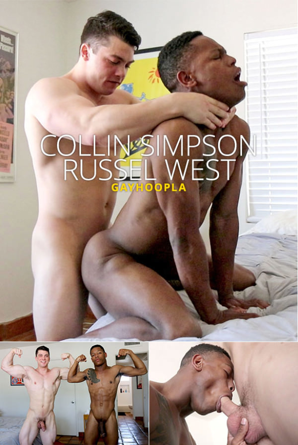 GayHoopla Newcomer Russel West bottoms for Collin Simpson
