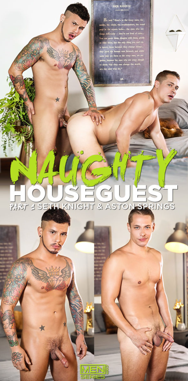 Men.com Naughty Houseguest Part 1 Seth Knight tops Aston Springs