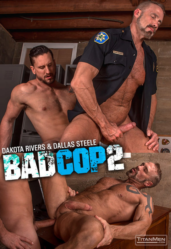 TitanMen Bad Cop 2 Dakota Rivers bangs muscle daddy Dallas Steele