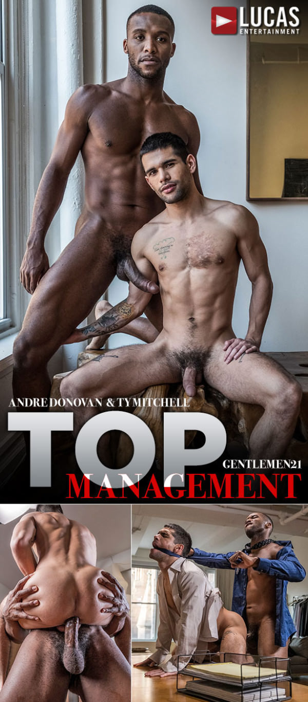 LucasEntertainment Gentlemen 21: Top Management Ty Mitchell bottoms for big-dicked Andre Donovan Bareback