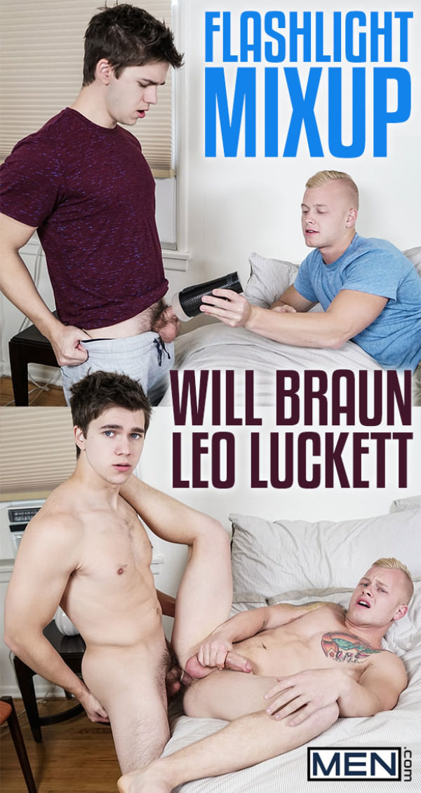 Men.com Flashlight Mixup Will Braun fucks Leo Luckett DrillMyHole