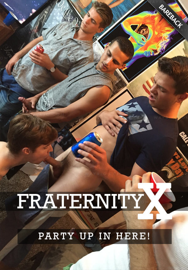 FraternityX PARTY UP IN HERE Seth Knight, Dean, Bentley, Carter, Travis Rocky Bareback