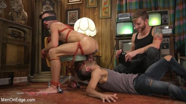MenOnEdge Two Dudes Repeatedly Work Casey Everett's Cock To The Brink