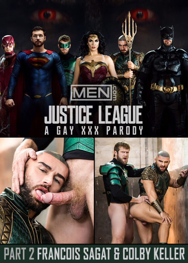 Men.com Justice League: A Gay XXX Parody Part 2 Colby Keller bangs Francois Sagat SuperGayHero