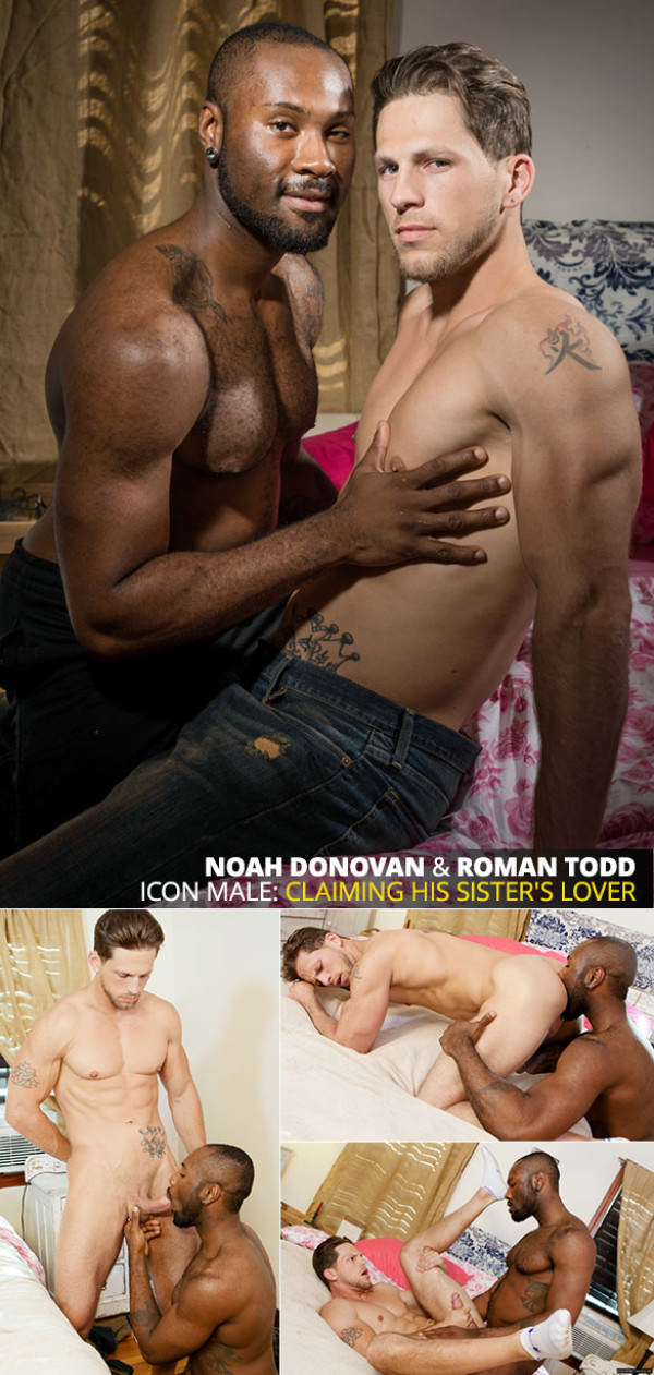 IconMale His Sister's Lover Roman Todd bottoms for big-dicked Noah Donovan