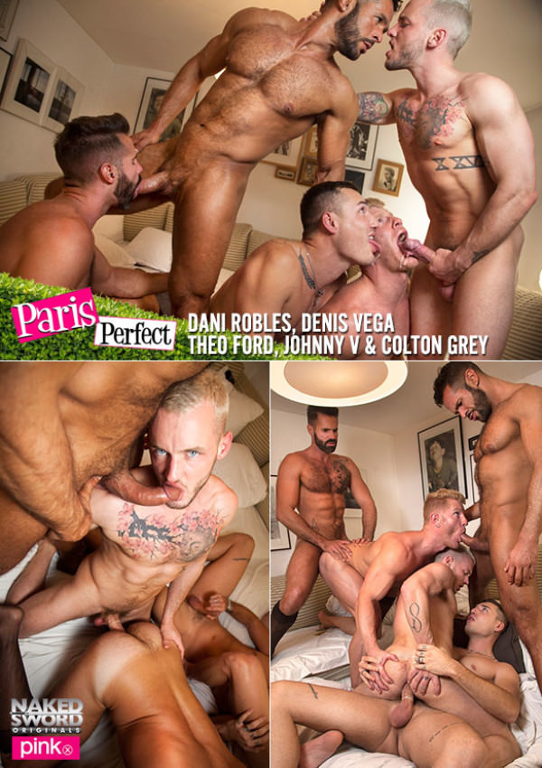 NakedSword Paris Perfect Episode 5: International Gang Bang Colton Grey, Dani Robles, Denis Vega, Johnny V Theo Ford