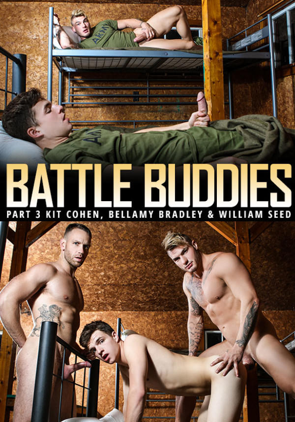 Men.com Battle Buddies Part 2 - William Seed Kit Cohen tag team Bellamy Bradley DrillMyHole