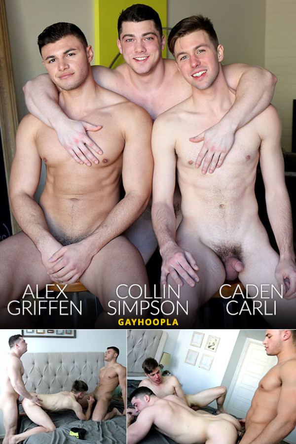 GayHoopla Collin Simpson, Alex Griffen & Caden Carli fuck each other