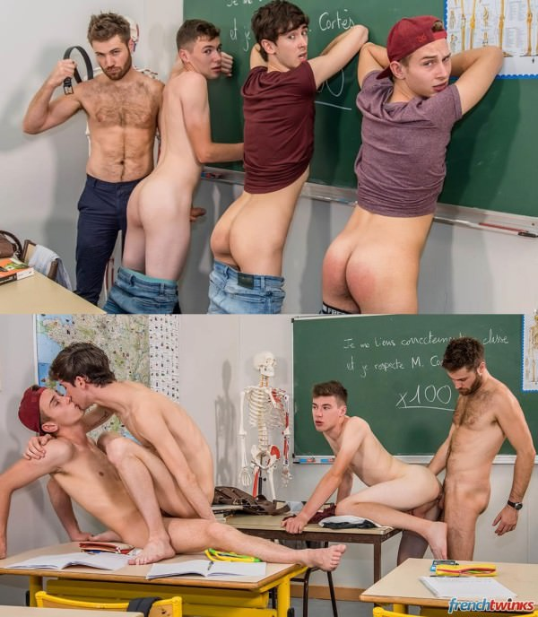 FrenchTwinks Slutty HighSchool Boys Episode 4: One Hour Detention Doryann Marguet, Gabriel Lambert, Enzo Lemercier Paul Delay