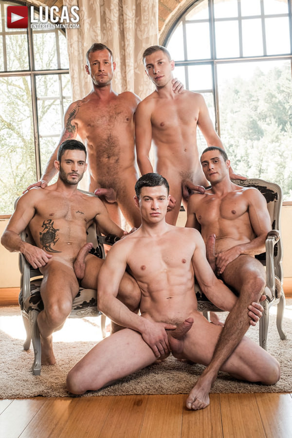 LucasEntertainment Ruslan Angelo's Five-Man Bareback Orgy Andy Star, Bogdan Gromov, Javi Velaro, Logan Rogue & Ruslan Angelo Bareback