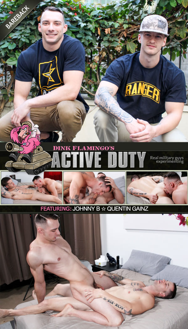 ActiveDuty Quentin Gainz Fucks Johnny B Bareback