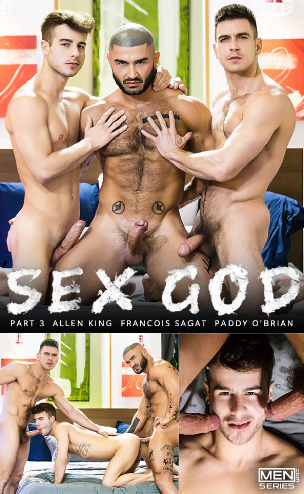 Men.com Sex God, Part 3 Paddy O'Brian François Sagat tag team Allen King DrillMyHole