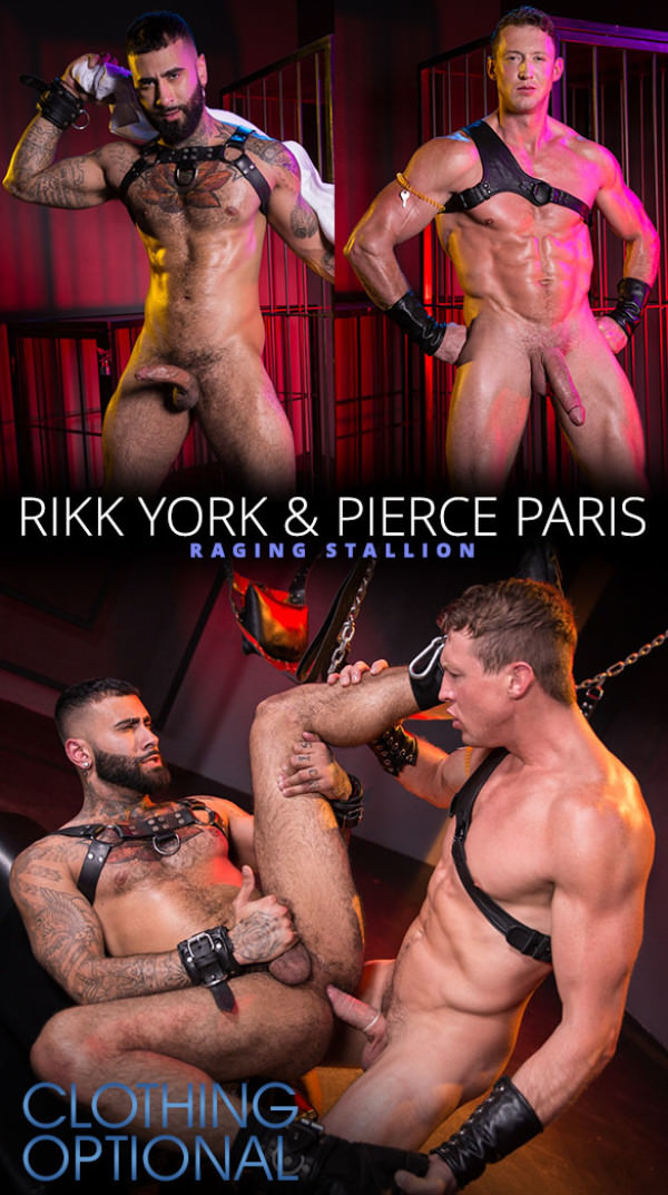 RagingStallion Clothing Optional Pierce Paris fucks Rikk York