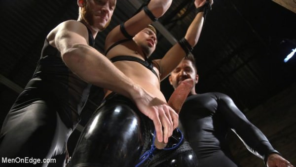 MenOnEdge Monster Cocked Noob Blindfolded, Gagged, and Edged Til He Blows Matt Anthony