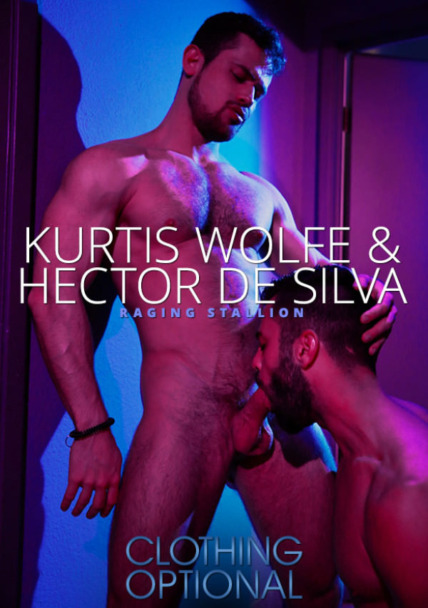 RagingStallion Clothing Optional - Hector de Silva & Kurtis Wolfe suck each other off