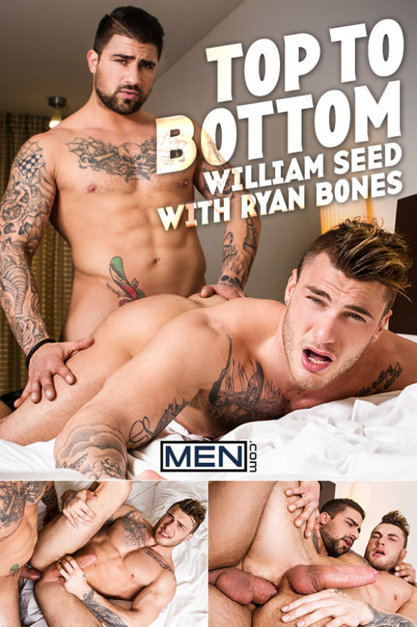 Men.com William Seed Gets Barebacked by Ryan Bones in His Bottoming Debut TopToBottom