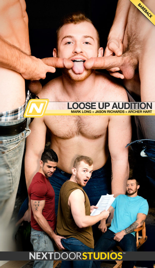 NextDoorStudios Loose Up Audition Mark Long Jason Richards Tag-team Archer Hart Bareback